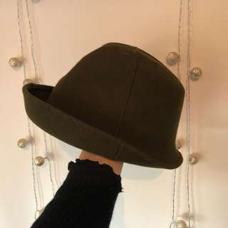 vtg bottle green hat