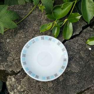 🚚 【LoveloVe】早期60.70年代Sam Kwang Pyrex牛奶玻璃咖啡碟.點心碟.小盤碟