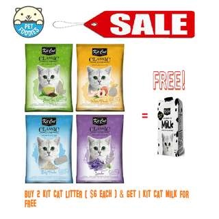 [Pet Foodies] PROMO!! BUY 2 KIT CAT LITTER (@ $6 EACH) & GET 1 KIT CAT MILK FREE