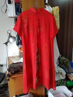 Modern qipao / traditional chinese dress in red