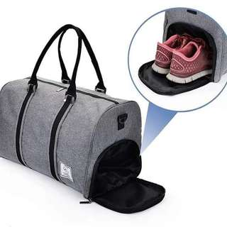 Korean Travel-Fitness Bag with shoe lot