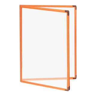 Colorful Premium  A4 4 Pockets/8 Pages Orange Tree Clear Menu