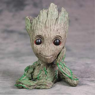 Three for Two Guardians of The Galaxy Flowerpot Baby Groot Action Figures 买二赠一银河护卫队 格鲁特 树人盆栽花盆笔筒手办#320