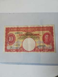 Malaya old notes (rare)