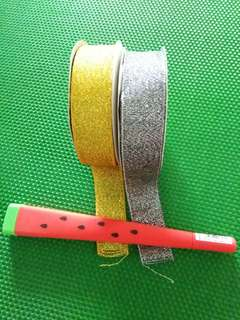 Gold & Silver Fabric/Ribbon Tapes