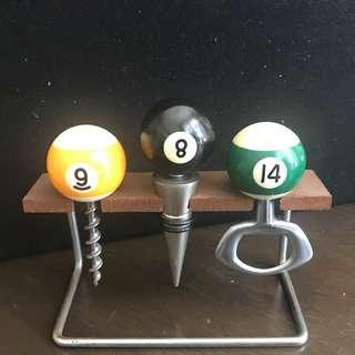 古董桌球開瓶器