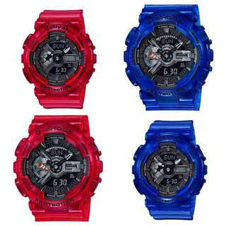 Gshock 透明紅 透明藍 情侶錶