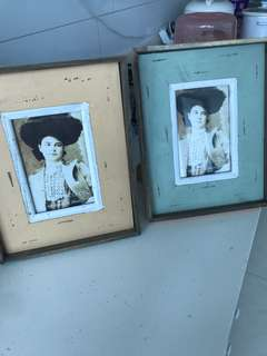 Beautiful shabby chic photo frames to bless! Retail $15
