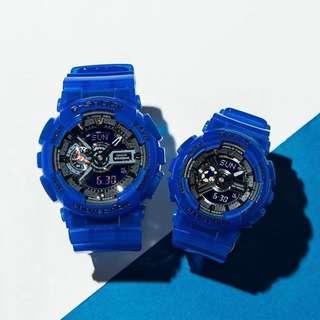 Casio Gshock 透明藍 情侶裝