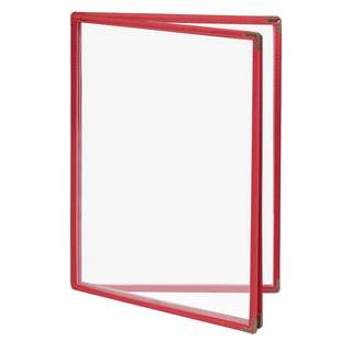 Colorful Premium  A4 4 Pockets/8 Pages Red Hope Clear Menu