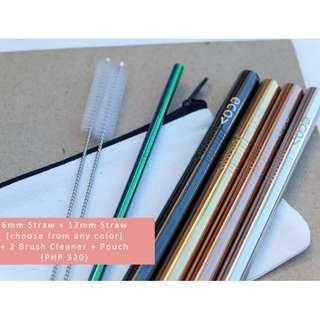 Reusable Straw Set (Rainbow)