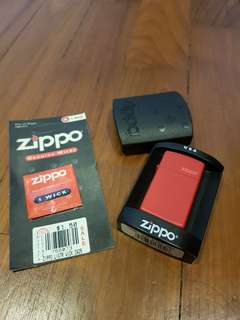 Zippo Slim Lighter (Red Matte)