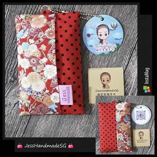 Handmade Pocket Tissue Holder / Pouch【 FREE NON-REGISTERED MAIL + BEAN CHAIN 】