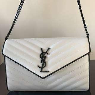 Ysl envelope monogram chain bag