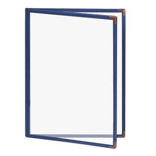 Colorful Premium  A4 4 Pockets/8 Pages Blue Olchang Clean Menu