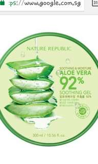 92% nature republic aloe vera ge