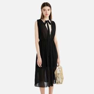 法國牌子Sandro black dress lace