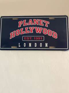 Planet Hollywood Metal plate deco