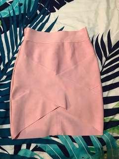 Bandage skirt pink