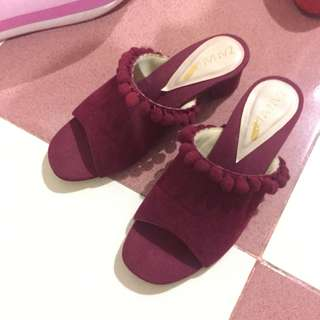 Zanana - Marshmallow Maroon Wedges