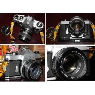 古董賓德菲林相機連TAMRON 35-70 mm。1:3.5鏡。Tamumar 1:1.4/50・1:35.。不散賣