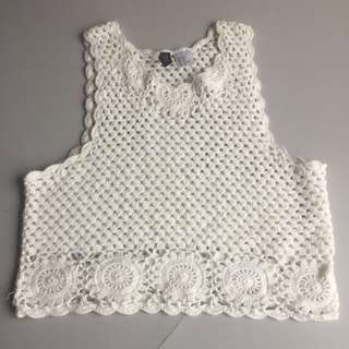 H&M Crochet Crop Top