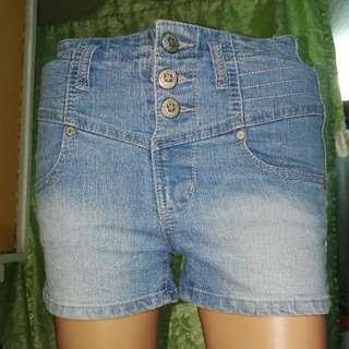 Highwaist Bongo Denim Shorts