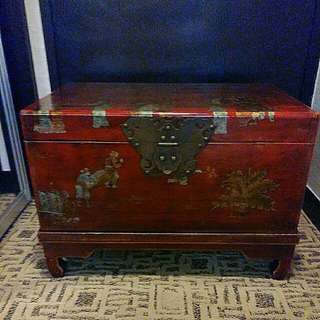 Chinese wooden trunks 17x26x18inches