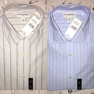 Banana Republic men shirt 👔 男·長袖恤衫 $160 兩件