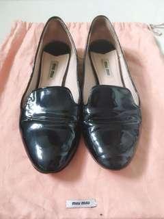 Miu Miu Black Patent Leather Shoes