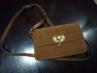 Class A parfois leather sling bag