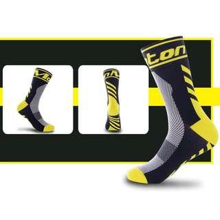 Monton Cycling Socks Positive Angle Black Yellow (BK1935)