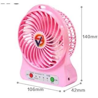 Portable Rechargeable LED Light Fan Air Cooler