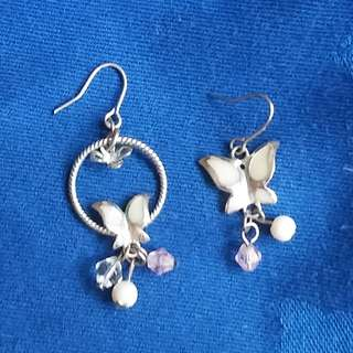 Butterfly ear pierces earrings 蝴蝶耳環