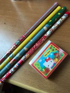 (All @ $2) Character Pencils & eraser