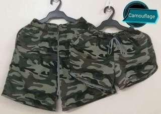 Comoflage couple shorts