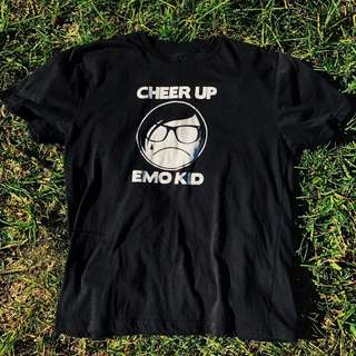 'Cheer Up Emo Kid' graphic 2000s tee
