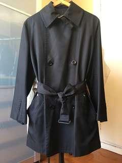 Y's Yohji Yamamoto Black Short Trench Coat
