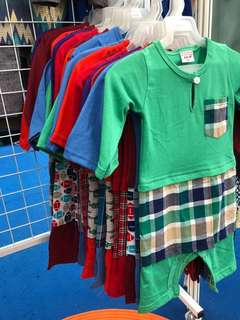 Baby Boys Baju Melayu Rompers