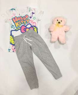 Hello Kitty Top Small and Jogging Pants 4-5y