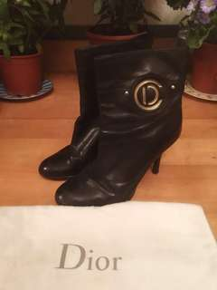 Dior Leather High Heel Boots