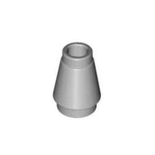 LEGO 1 X 1 Light Bluish Gray Nose Cone