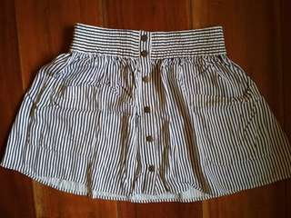 FOREVER 21 Striped Mini Skirt