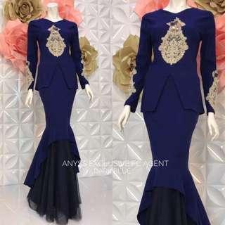 👗anyss  exclusive👗  👗Material :strechy cotton and skirt  net lace  👗 2 sizes : XS/M & L/XL  👗hidden zip di belakang 👗hidden zip tgn ( wudhu ) 👗gold lace 👗full lining
