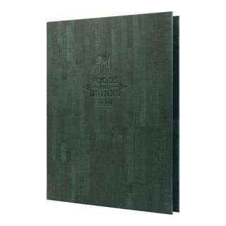 Ring Binders Green Painting Menu Covers