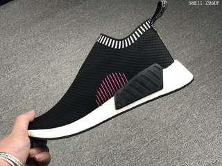 Adidas NMD R2 PK新品潮流運動鞋  BOOST中底帶顆粒 針織透氣面 夏季百搭潮鞋  58E11-Z95DP