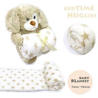 BABY BEDTIME HUGGIES PUPPY BLANKET