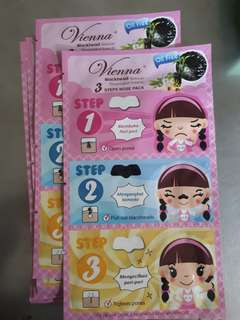 Vienna Blackhead Remover 3 Steps Nose Pack