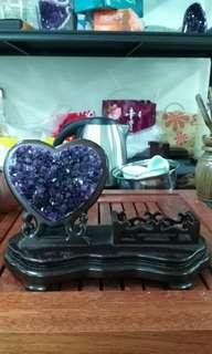 Heart Purple Crystal 心型紫水晶卡片座