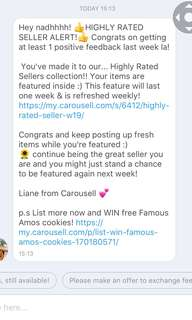 I got highly rated seller for ? times!🤩